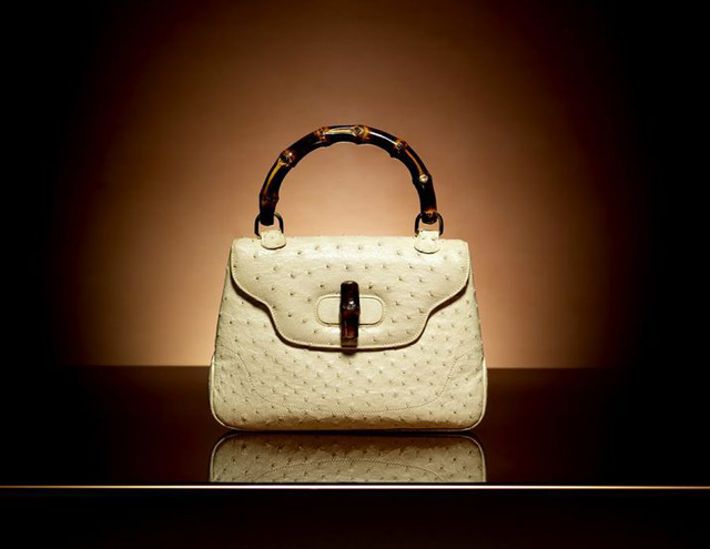 A Gucci bag with bamboo handle from the 1960s