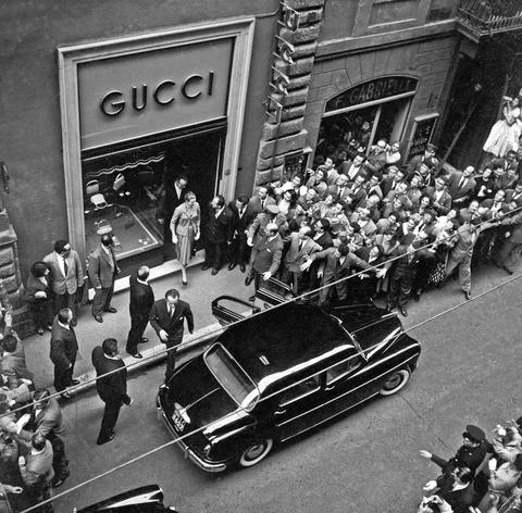 Guccis first store in New York in 1953
