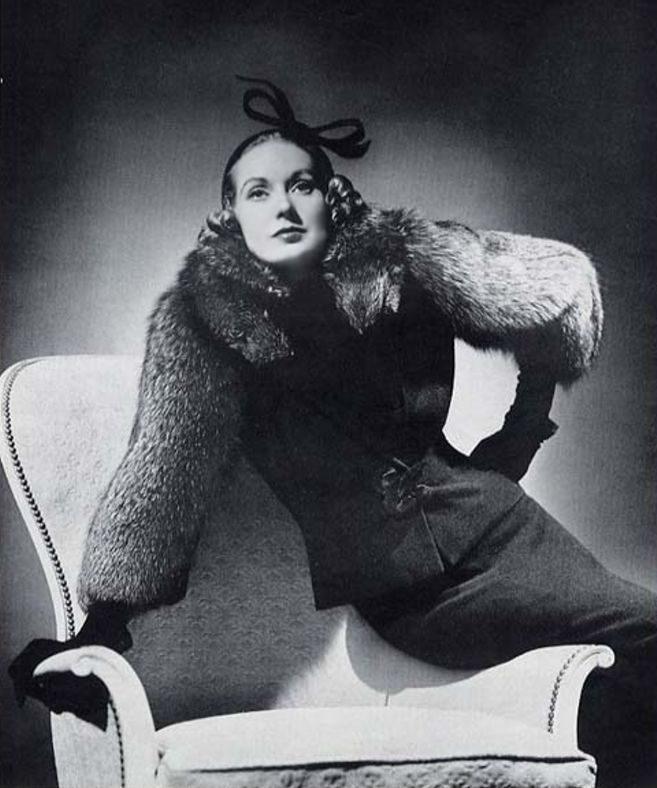 Lucille Ball wearing Hattie Carnegie collection