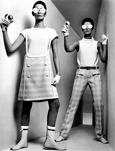 French fashion designer André Courrèges haute couture 1965