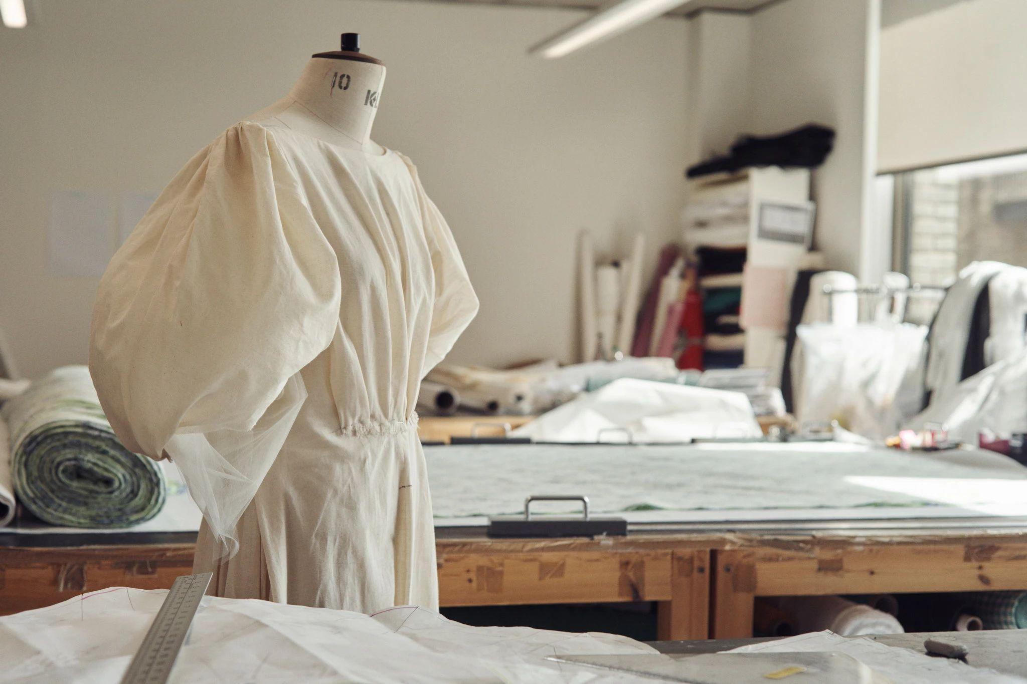 Fashion designer Emilia Wickstead in her studio